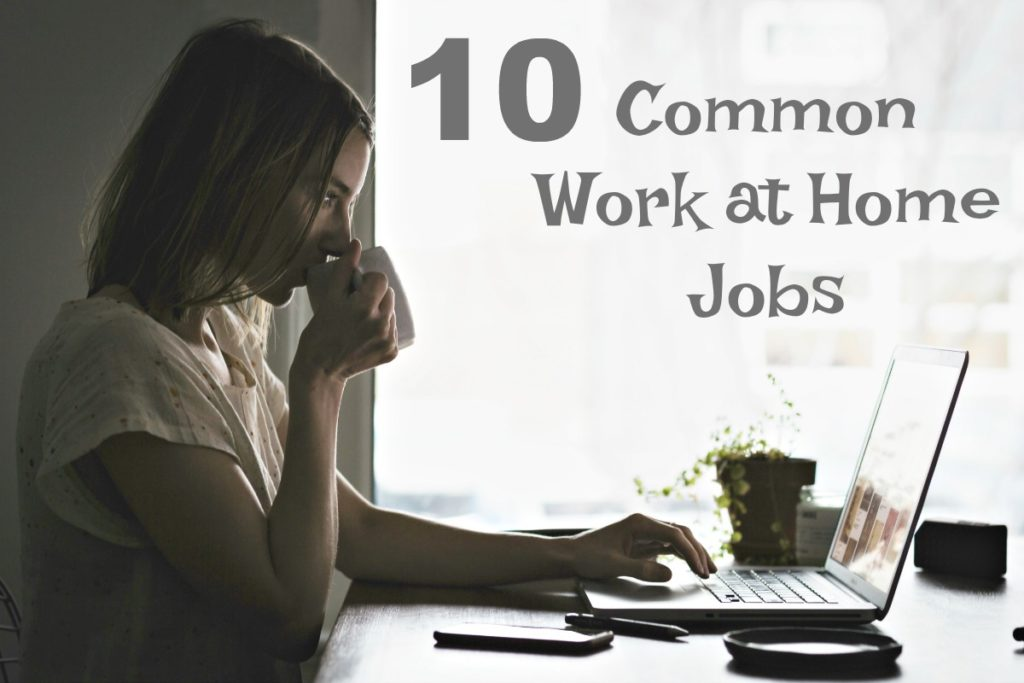 10 Common work at home jobs...
