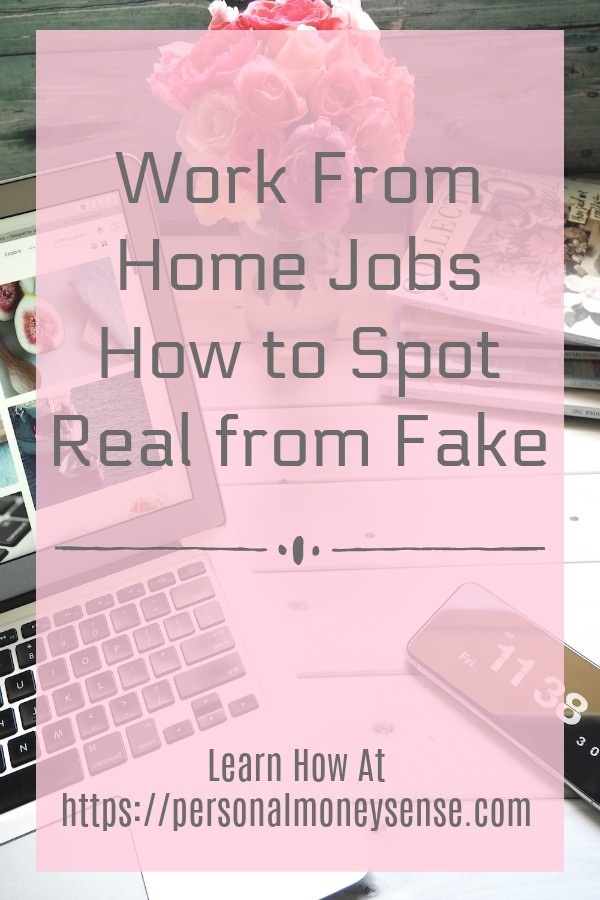 How to spot real or fake work from home jobs...