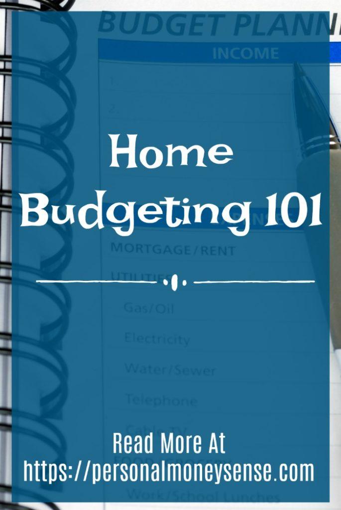 Home budgeting 101
