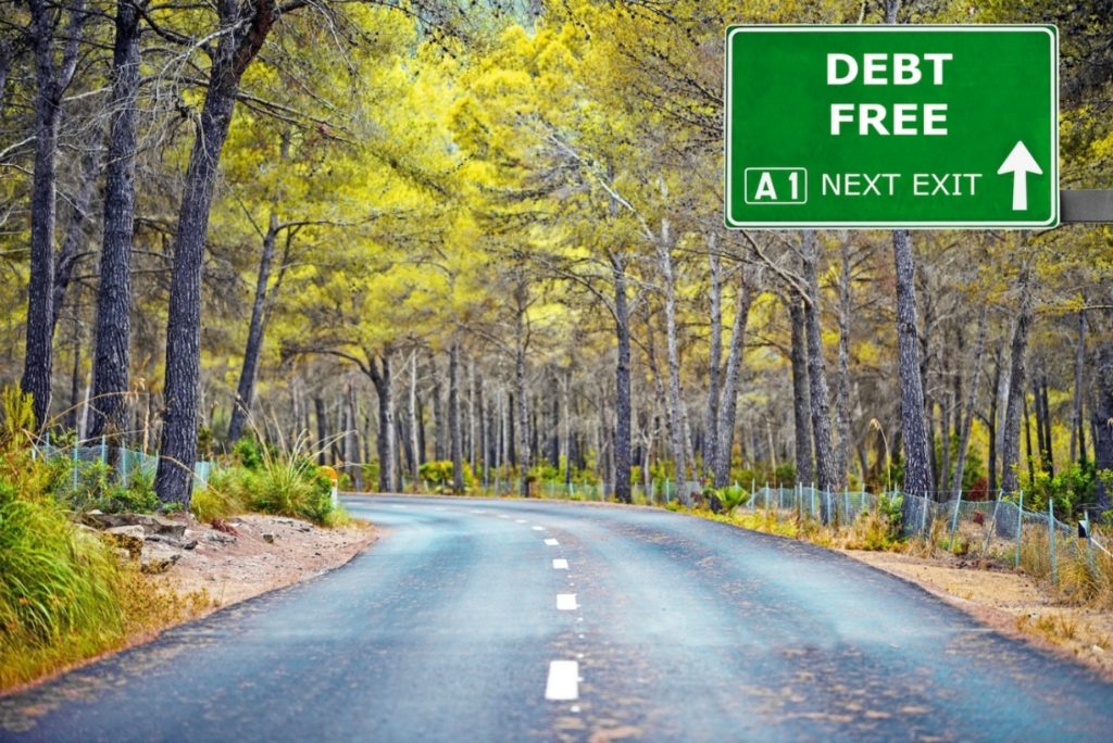 Getting out of debt... becoming debt free...